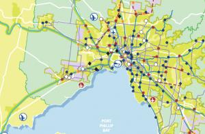 Map of Port Phillip Bay Melbourne